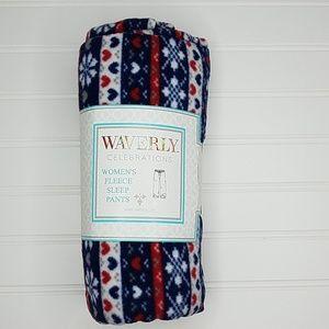 Waverly women's fleece sleep pajama pants sz M